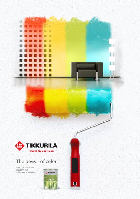 TIKKURILA / Разработка коммуникативной стратегии, key visual для рекламной кампании интерьерных красок
